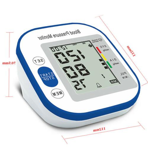 Upper Arm Pressure Monitor Portable LED Pulse Cuff -Gift