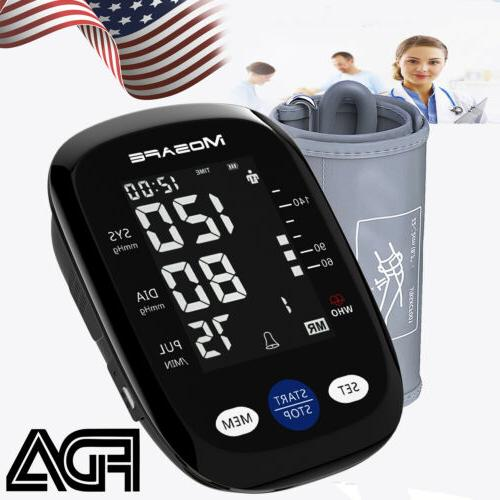 upper arm blood pressure monitor portable led