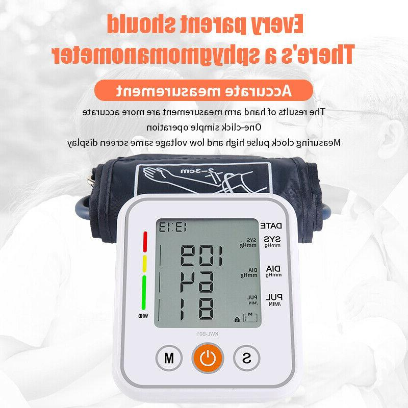Upper Arm Digital Blood Pressure Monitor BP Machine