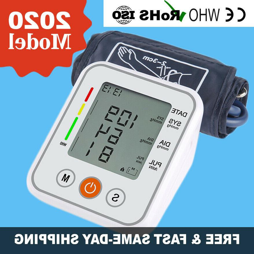 upper arm digital lcd blood pressure monitor