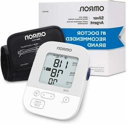 NEW Omron Silver  Upper Arm Cuff Blood Pressure Monitor - FR