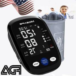 Upper Arm Blood Pressure Monitor Portable LED Display Pulse