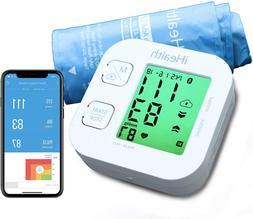 Wireless Blood Pressure Monitor Bluetooth Cuff, Digital Uppe