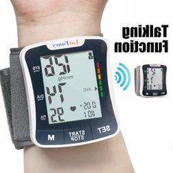 Wrist Blood Pressure Monitor BP Cuff Machine Home Test LCD A