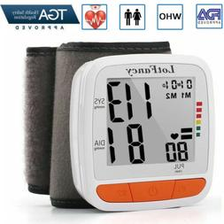 Wrist Blood Pressure Monitor BP Cuff Machine For All Size Wr
