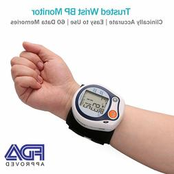 Wrist Blood Pressure Monitor Pulse Heart Rate BP Cuff Auto M